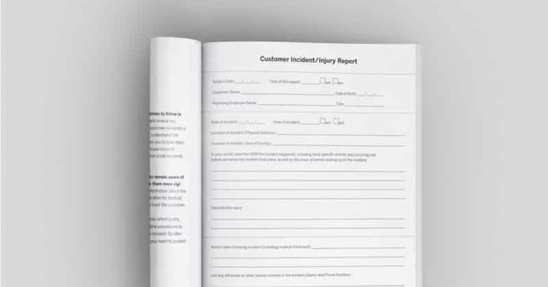 incident injury report kit