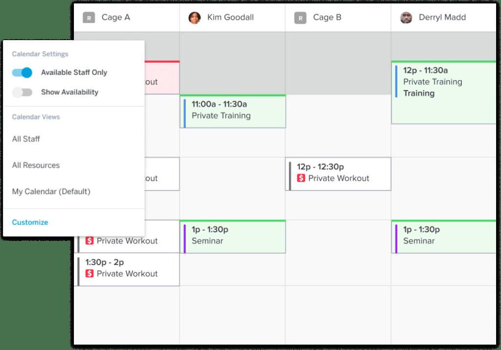 Sports Facility Calendar