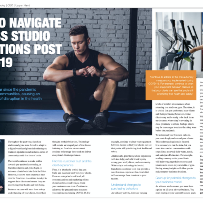 How to Navigate Fitness Studio Operations Post COVID-19